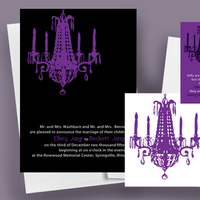 Stationery, white, purple, black, Modern, Modern Wedding Invitations, Invitations, Save the date, Custom, Unique, Designer, Chic, Affordable, Do-it-yourself, Printable, Anna rae custom designs