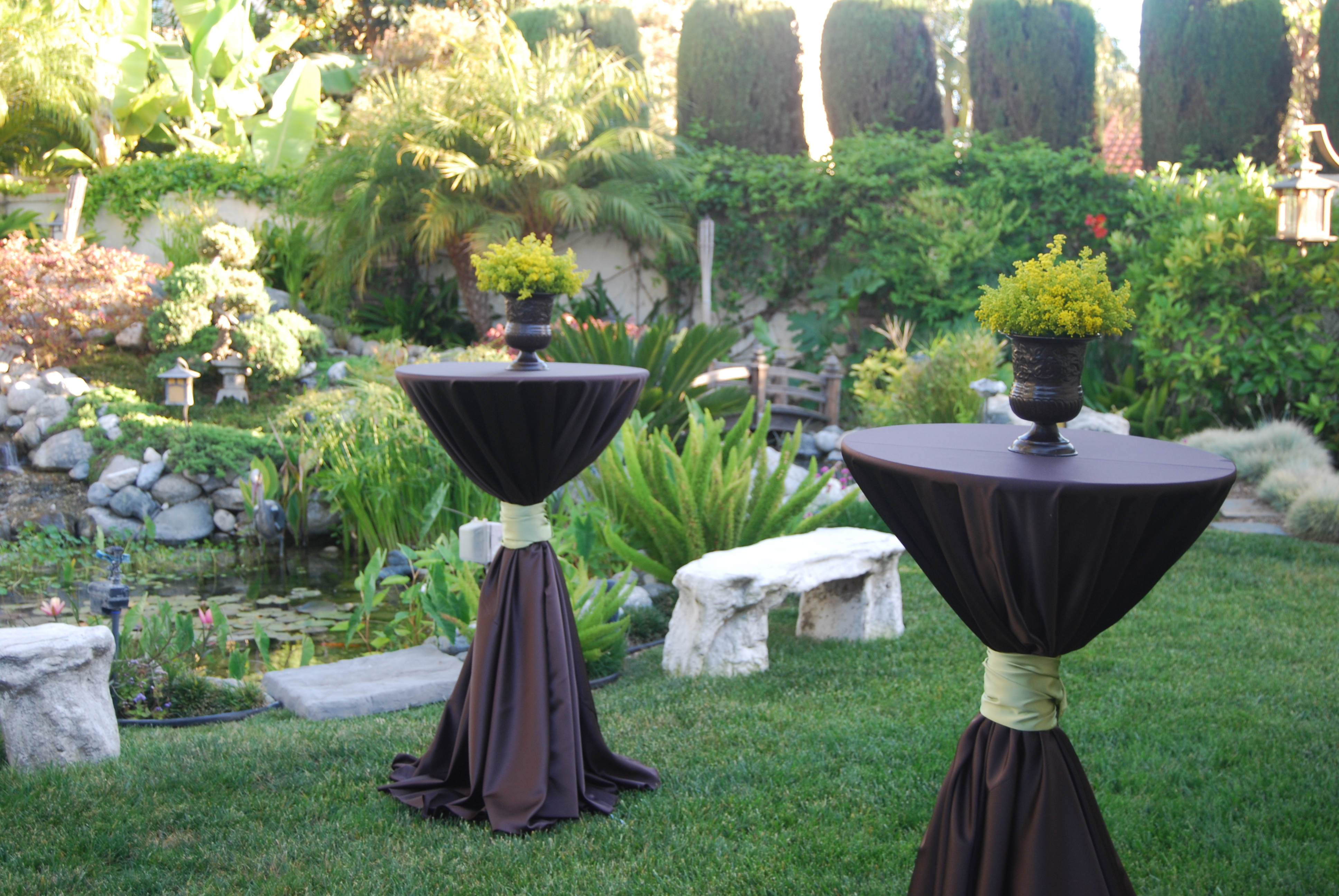Reception, Flowers & Decor, yellow, green, brown, Flowers, An elegant touch
