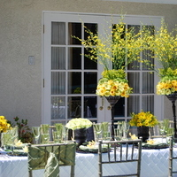 Reception, Flowers & Decor, white, yellow, green, brown, Flowers, Elegant, An, Touch, An elegant touch