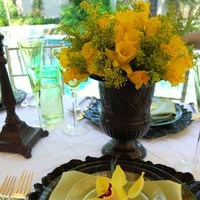 Reception, Flowers & Decor, white, yellow, red, green, brown, Flowers, Elegant, An, Touch, An elegant touch