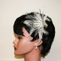 Beauty, Jewelry, Bridesmaids Dresses, Wedding Dresses, Fashion, white, ivory, pink, silver, dress, Feathers, Wedding, Bridesmaid, Hair, Bridal, Champagne, Crystal, Pearl, Fascinator, Prom, Barrette, Feather, Donnaella wedding accessories, Feather Wedding Dresses