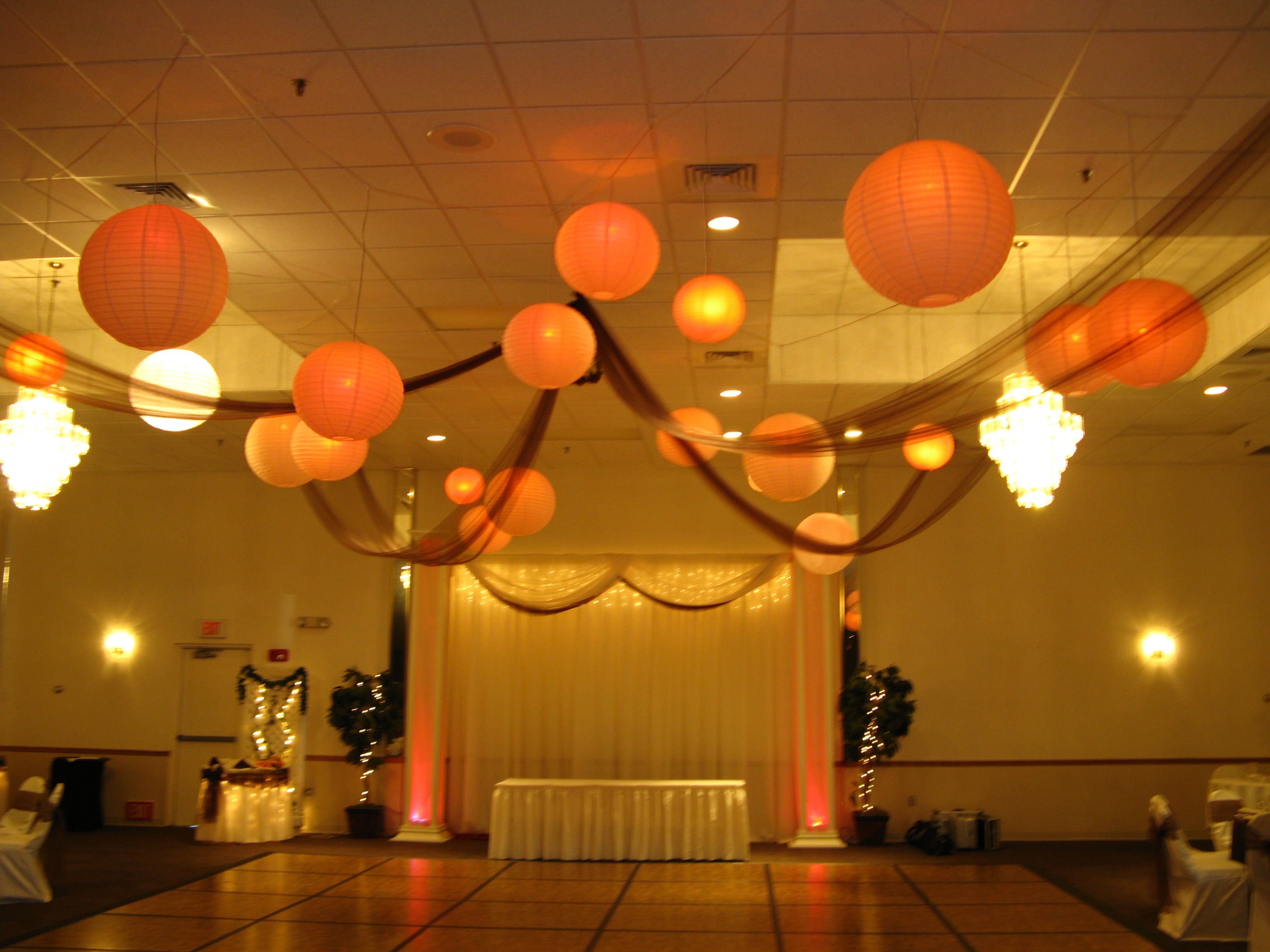 Reception, Flowers & Decor, yellow, orange, brown, gold, Dance, Floor, Mj decorations