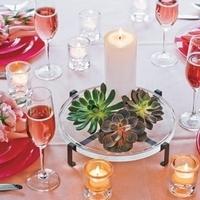 Reception, Flowers & Decor, green, Centerpieces, Candles, Centerpiece, Succulents