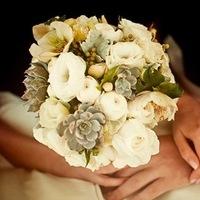 Flowers & Decor, white, green, Bride Bouquets, Flowers, Bouquet, Succulents