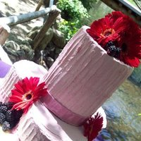Flowers & Decor, Cakes, white, pink, purple, cake, Flowers, Fruit, And