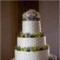 Cakes, white, blue, green, cake
