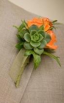 Flowers & Decor, orange, green, Boutonnieres, Flowers, Boutonniere, Succulents