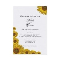 Flowers & Decor, Stationery, white, yellow, invitation, Invitations, Flower, Floral, Summer wedding, Sunflower, A wedding collection by lora severson photography, Sunflower wedding, Floral wedding
