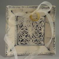 Ceremony, Flowers & Decor, white, blue, Ring, Bearer, Knot, Dish, Tray, Dawn dalto ceramics, Celtick