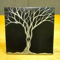 Inspiration, white, black, Gift, Tree, Initials, Board, Anniversary, Love, Heart, Tile, Dawn dalto ceramics