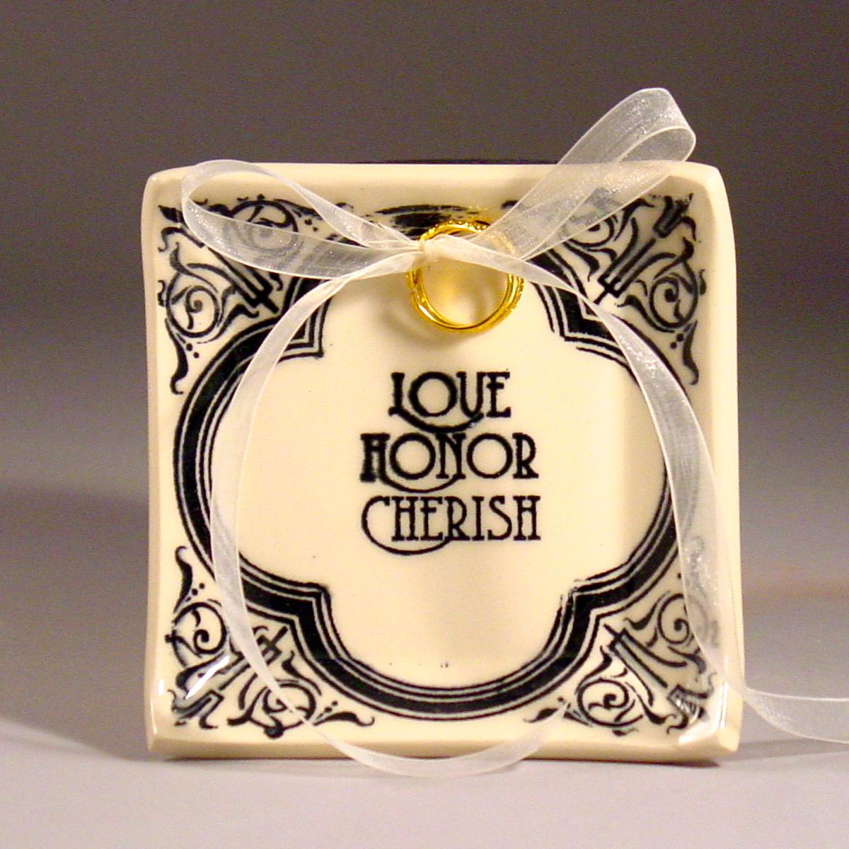 Ceremony, Flowers & Decor, white, black, Ring, Bearer, Cream, Honor, Love, Dish, Filigree, Tray, Dawn dalto ceramics, Chereish