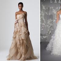 Wedding Dresses, Ball Gown Wedding Dresses, Fashion, white, green, brown, dress, Wedding, Ballgown, Lazaro, Dresses, Vera, Wang, Keveza, Romona