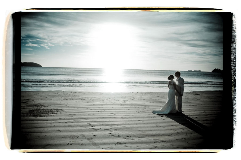 Ceremony, Flowers & Decor, blue, black, Beach, Beach Wedding Flowers & Decor, Wedding, Kiss, Umbrella, Sunset, Fino photography