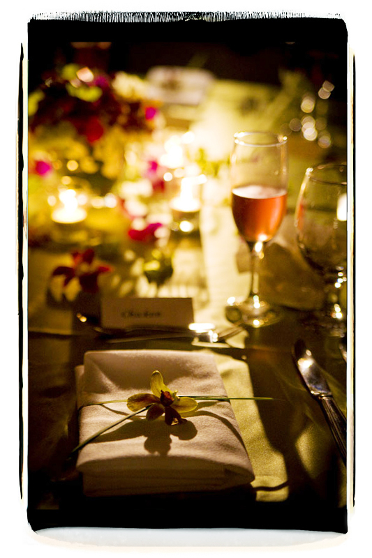 Reception, Flowers & Decor, green, black, gold, Candles, Table, Setting, Night, Fino photography