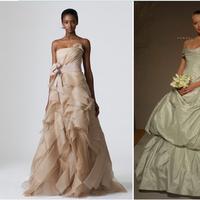 Wedding Dresses, Ball Gown Wedding Dresses, Fashion, white, green, brown, dress, Wedding, Ballgown, Dresses, Vera, Wang, Keveza, Romona