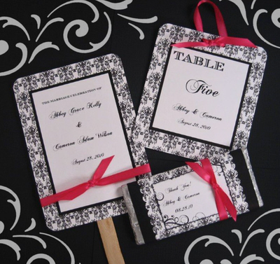 Ceremony, Reception, Flowers & Decor, Favors & Gifts, white, yellow, orange, pink, red, purple, blue, green, brown, black, silver, gold, Favors, Wedding, Damask, Accent the party