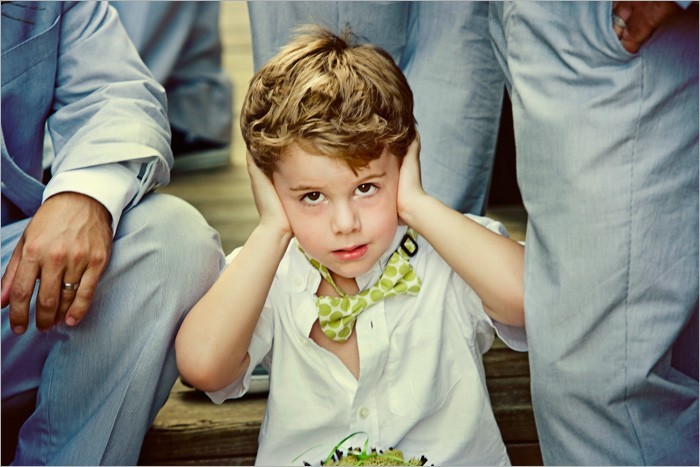 Ceremony, Inspiration, Flowers & Decor, white, green, Groomsmen, Lime, Groom, Board, Ringbearer, Bowtie, Polkadot, Necktie