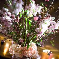 Reception, Flowers & Decor, white, pink, purple, Centerpieces, Spring, Flowers, Centerpiece, Branches, Floral, Cherry, Blossoms, Kate, Lilacs, Design, Ritz carlton, Baker, Kate baker floral design