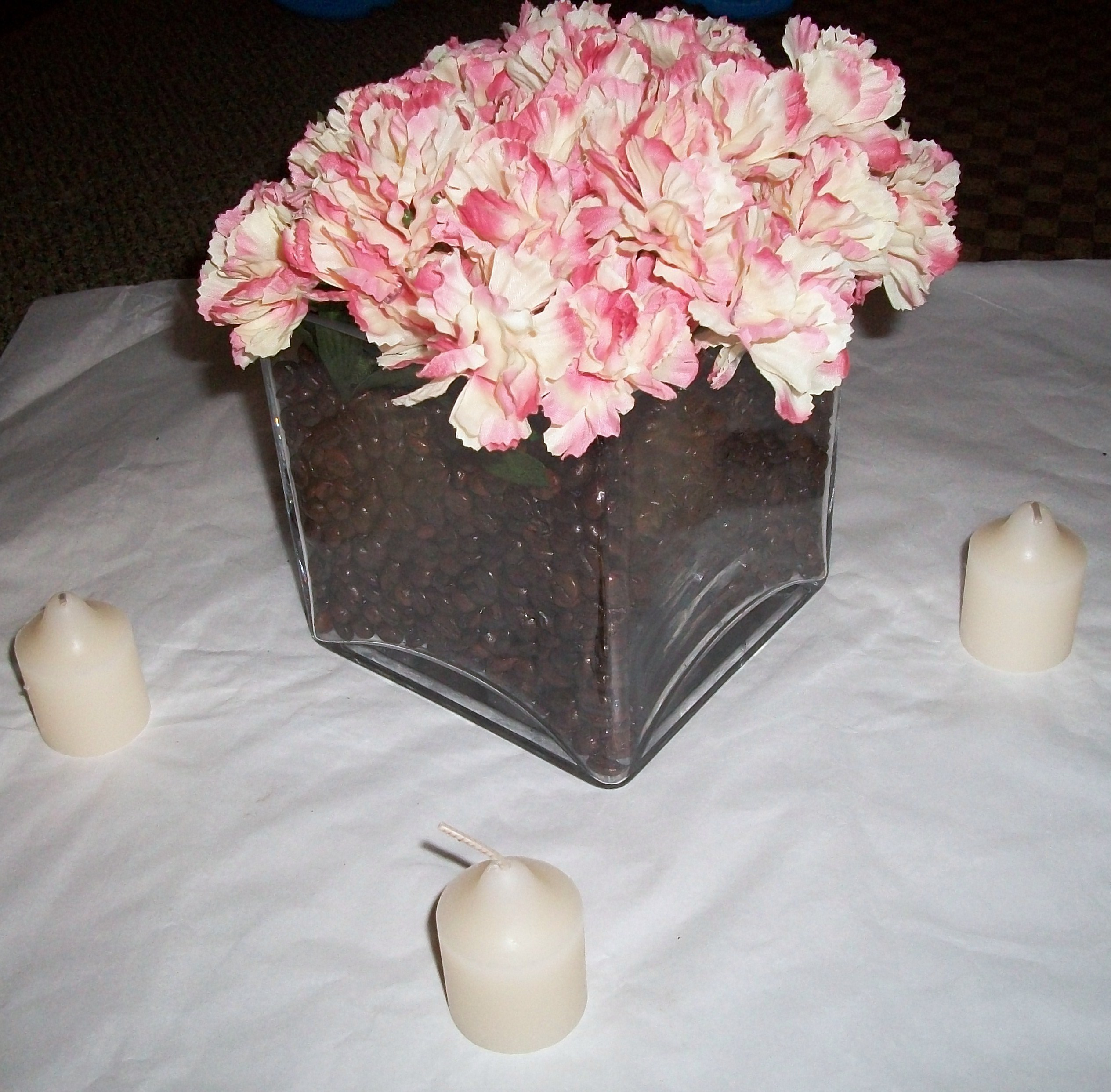 Reception, Flowers & Decor, pink, brown, Centerpieces, Flowers, Centerpiece