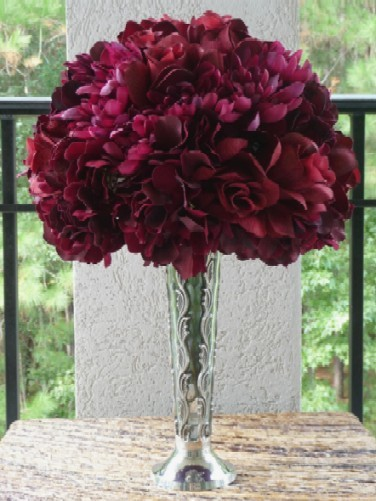 Ceremony, Inspiration, Reception, Flowers & Decor, white, red, burgundy, Ceremony Flowers, Centerpieces, Flowers, Centerpiece, Wedding, Rose, Board, Hydrangea, Savannah event decor