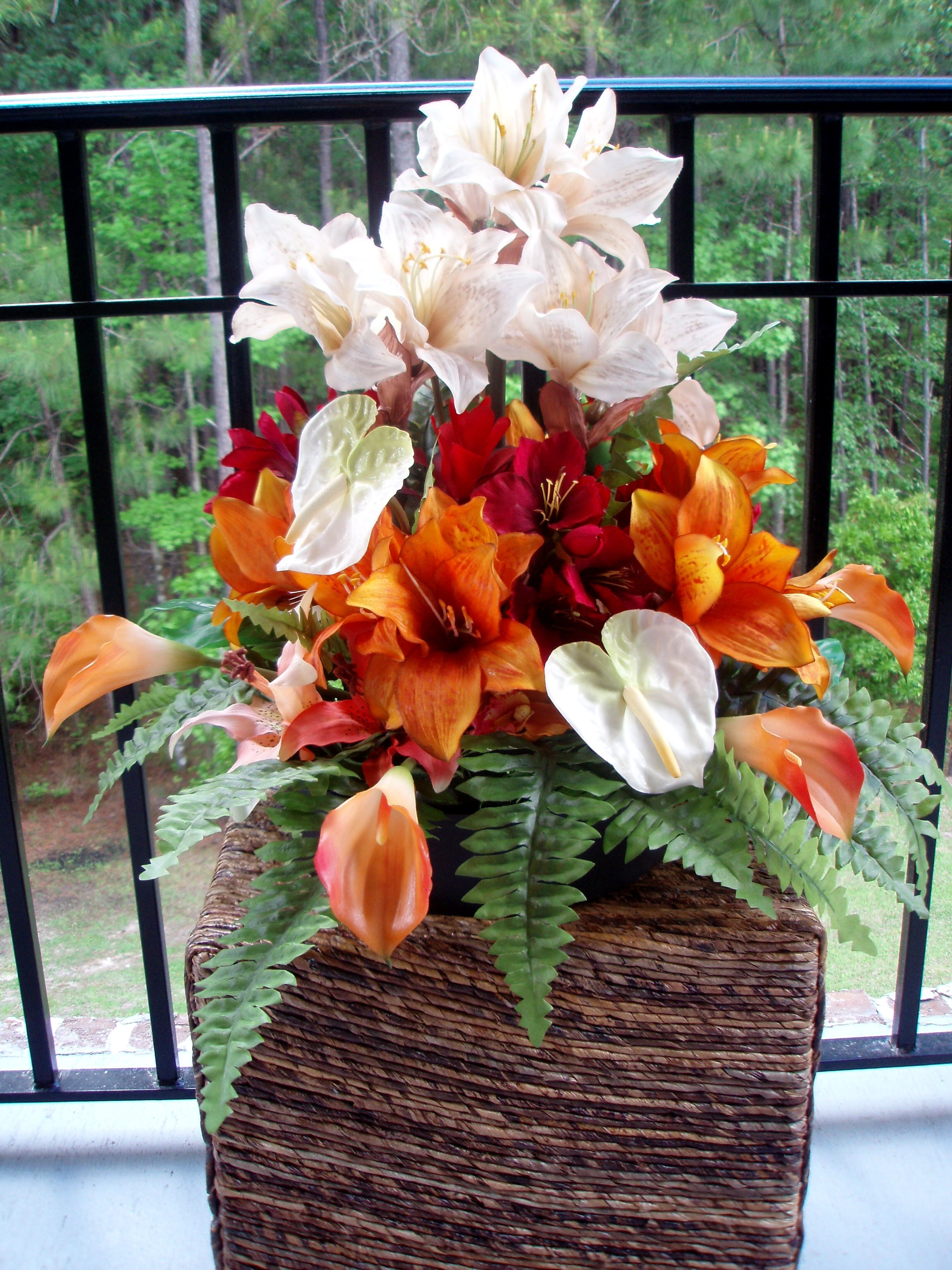 Ceremony, Inspiration, Reception, Flowers & Decor, ivory, orange, gold, Ceremony Flowers, Centerpieces, Flowers, Centerpiece, Wedding, Tropical, Board, Amaryllis, Savannah event decor