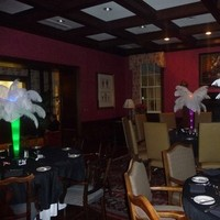 Beauty, Inspiration, Reception, Flowers & Decor, white, yellow, orange, pink, red, purple, blue, green, brown, black, silver, gold, Feathers, Centerpieces, Flowers, Board, Feather, Ostrich, Savannah event decor