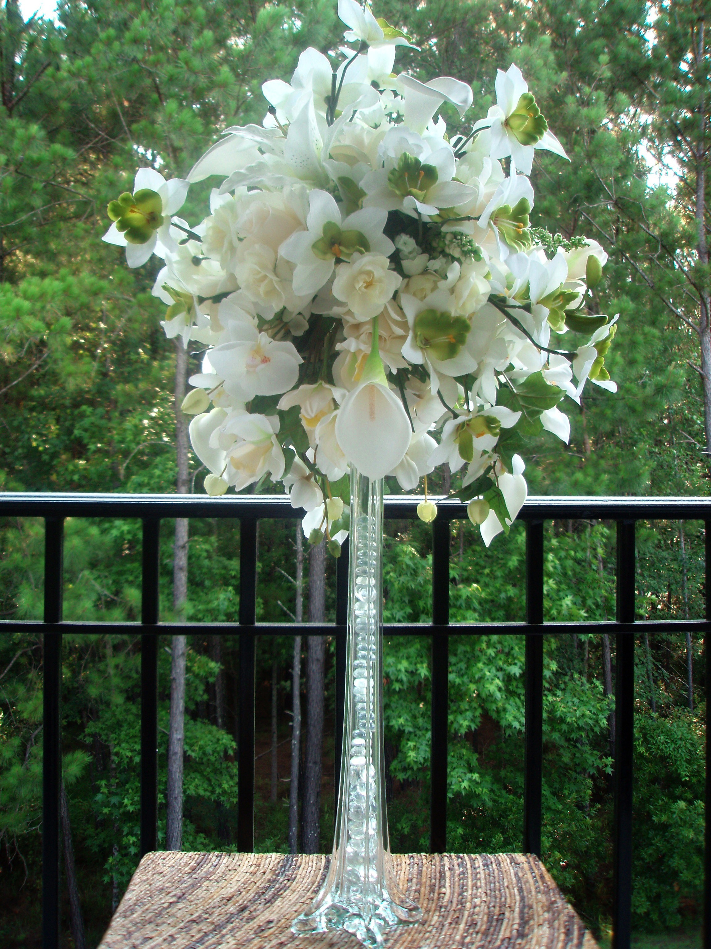 Ceremony, Inspiration, Reception, Flowers & Decor, white, yellow, orange, pink, red, purple, blue, green, brown, black, silver, gold, Ceremony Flowers, Centerpieces, Flowers, Centerpiece, Wedding, Board, Rental, Head, Savannah, Hilton, Savannah event decor