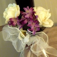 Ceremony, Inspiration, Flowers & Decor, white, ivory, purple, Ceremony Flowers, Flowers, Roses, Board, Pew, Markers, Jasmine, Rent, Savannah event decor, Lavander