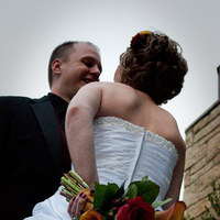 Flowers & Decor, orange, red, Bride Bouquets, Bride, Flowers, Groom, And, Astaats photography