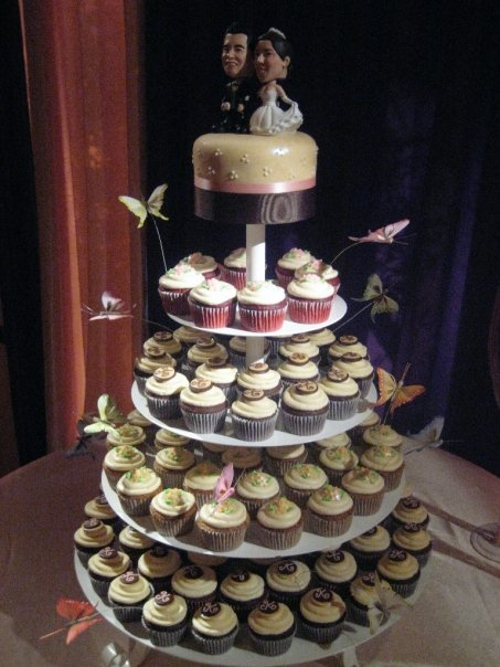 Cakes, cake, Cupcakes, Wedding, Butterfly, For the love of sugar
