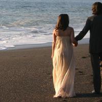 Wedding Dresses, Beach Wedding Dresses, Fashion, dress, Beach, Gown, Wedding, Strapless, Strapless Wedding Dresses, Chiffon, Carole kenney design, Irridescent, Chiffon Wedding Dresses