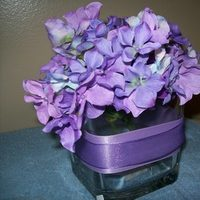 Reception, Flowers & Decor, purple, Centerpieces, Flowers, Centerpiece, Hydrangea
