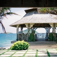Ceremony, Reception, Flowers & Decor, Destinations, Beach, Bride, Beach Wedding Flowers & Decor, Groom, Wedding, Destination, St, Married, Spa, Resort, Bay, Coconut, Lucia, Moongate weddingevent planner