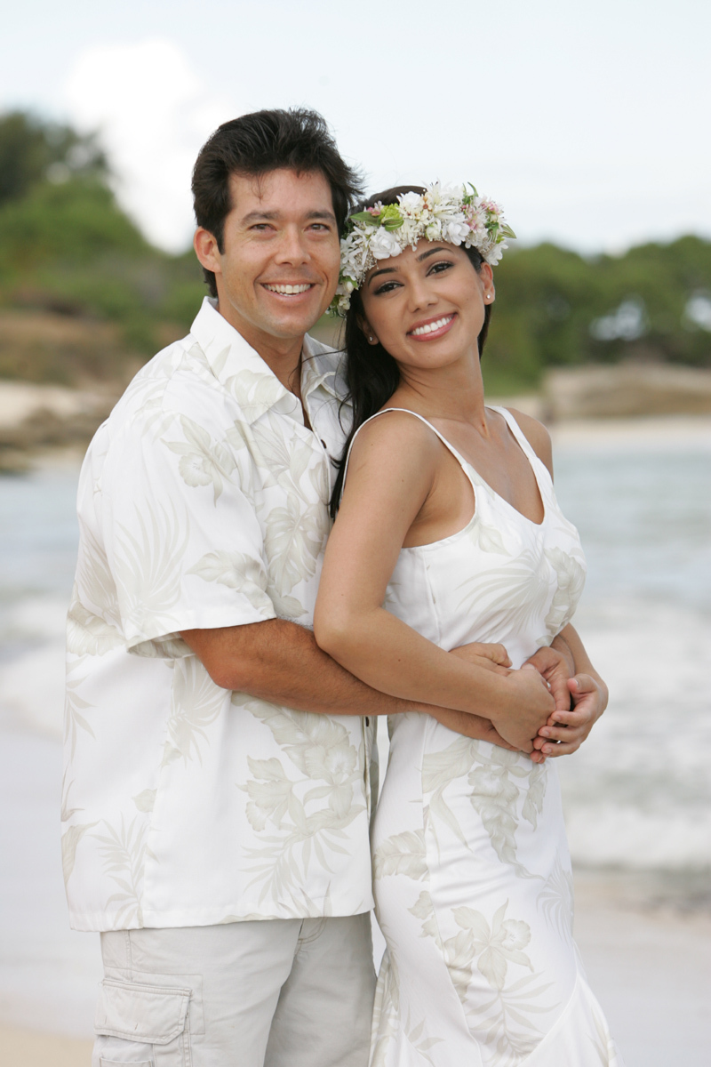 hawaiian wedding dress