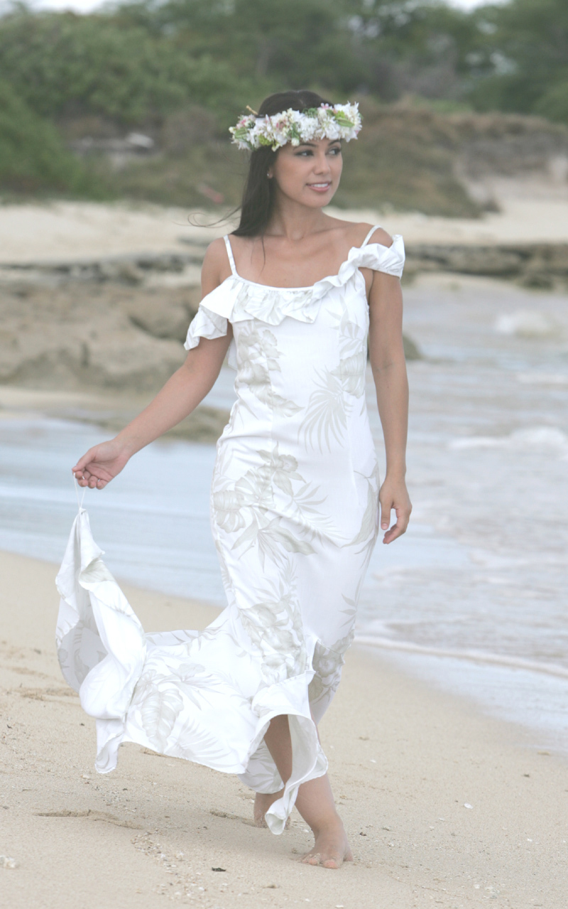 Hawaiian wedding dress hawaiian wedding dresses beach for Wedding dresses for tropical wedding
