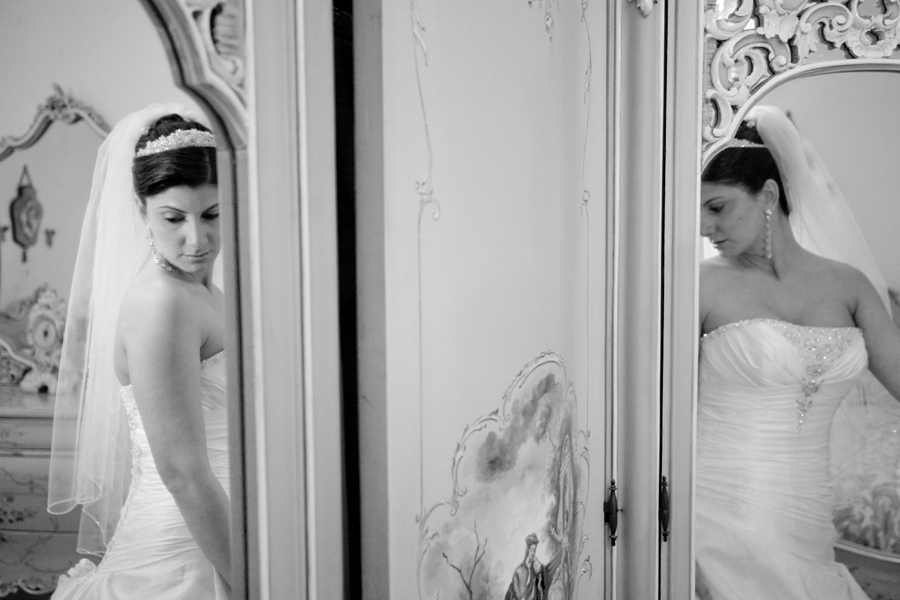 Bride, Preparation, Mirror, Jennifer boyle photography