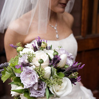 Flowers & Decor, white, purple, green, Bride Bouquets, Flowers, Bouquet