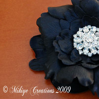 Beauty, Flowers & Decor, Jewelry, Bridesmaids, Bridesmaids Dresses, Fashion, white, black, Bride Bouquets, Bridesmaid Bouquets, Bride, Flowers, Flower, Hair, Accessory, Fascinator, Silk, Mikiye creations, Flower Wedding Dresses, Silk Wedding Dresses