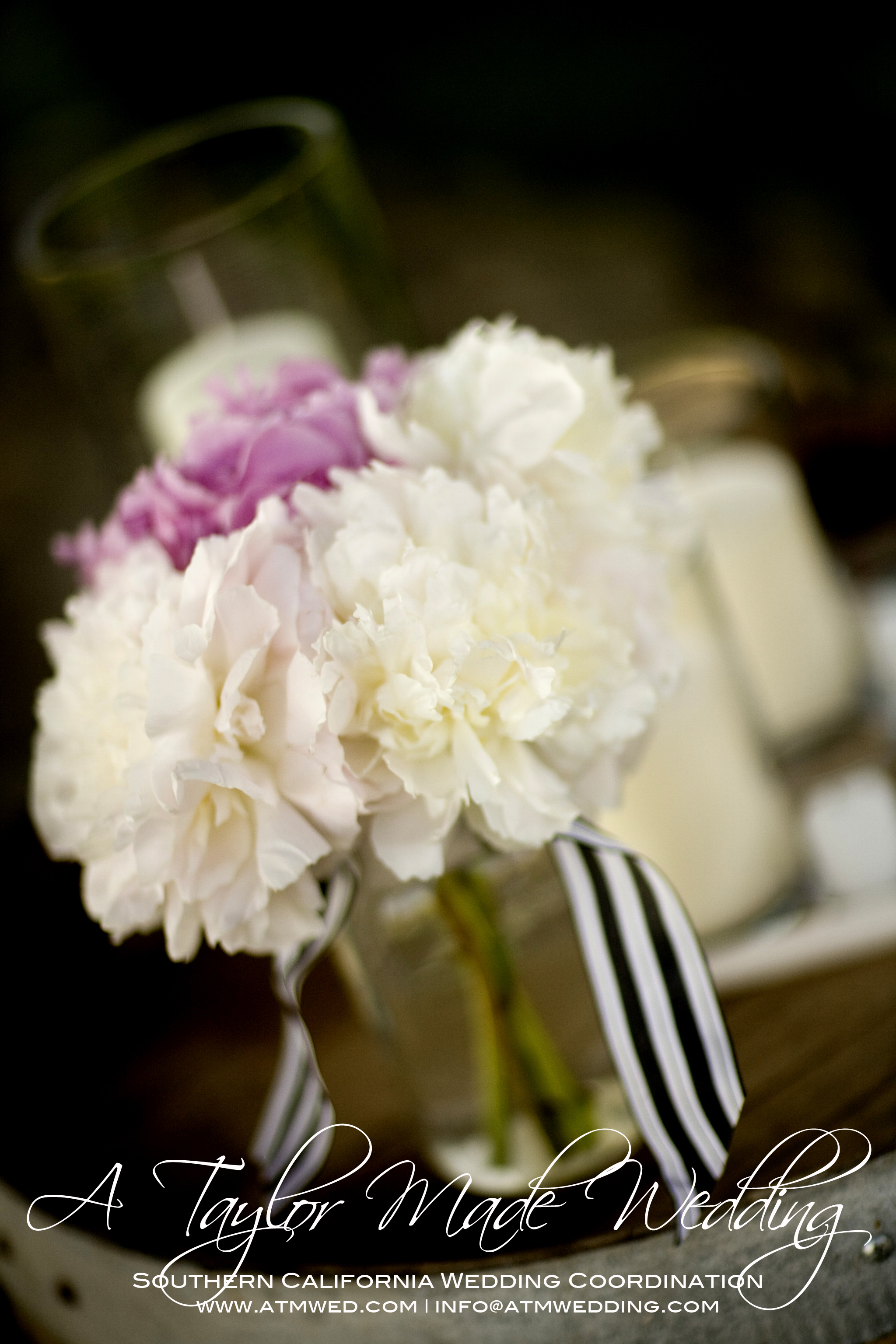Flowers & Decor, white, pink, black, silver, Flowers, A taylor made wedding
