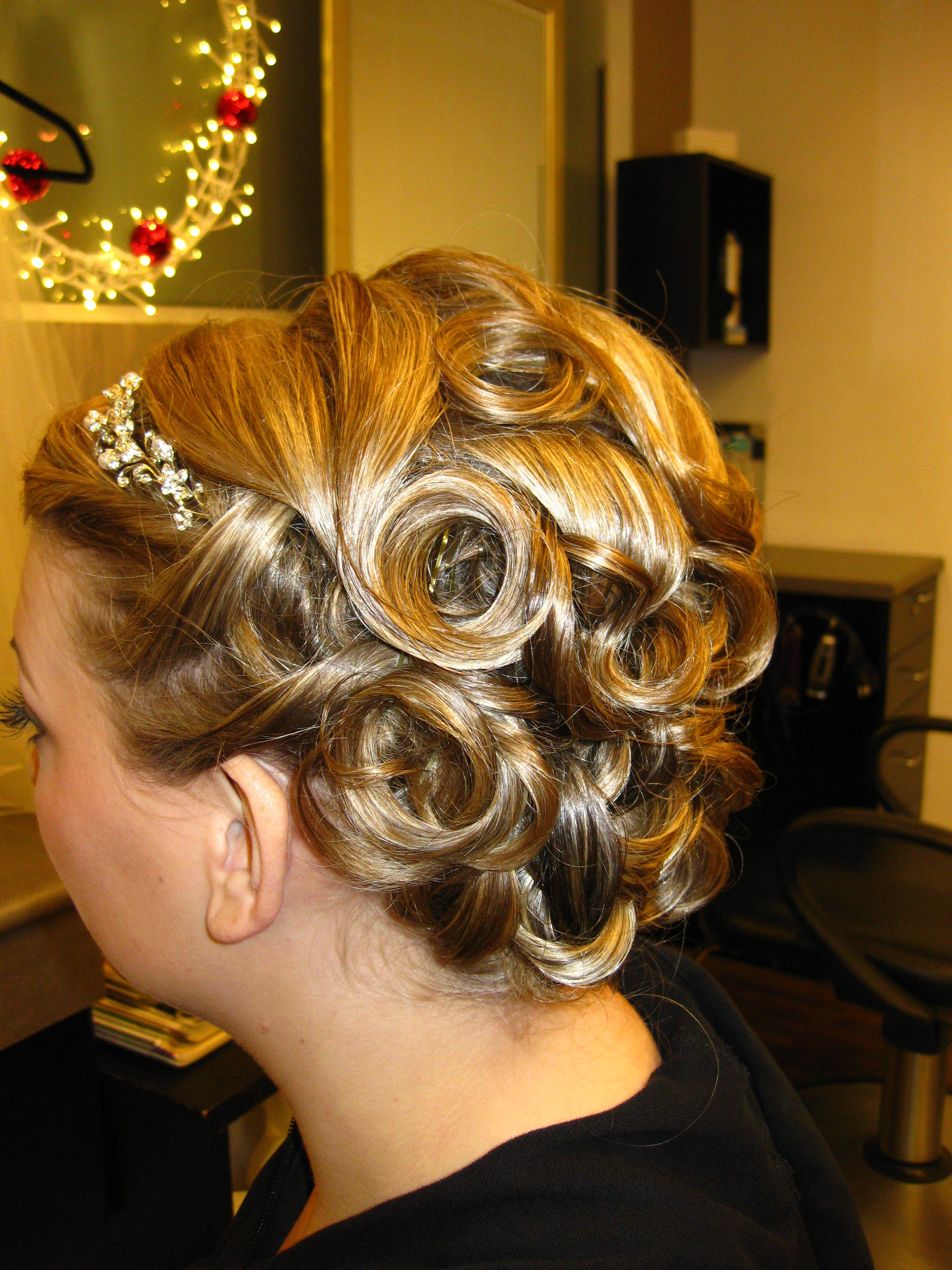 Beauty, Updo, Hair, Blonde, Curls