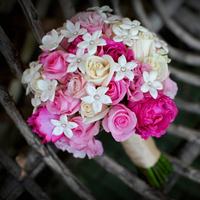 Flowers & Decor, pink, Bride Bouquets, Flowers, Roses, Bouquet, Cream, Your neighborhood florist