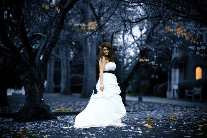 Wedding Dresses, Fashion, white, blue, black, dress, Fall, Bride, And, Leaves, Images, Our-wedding-photographer, Colorized, Fall Wedding Dresses