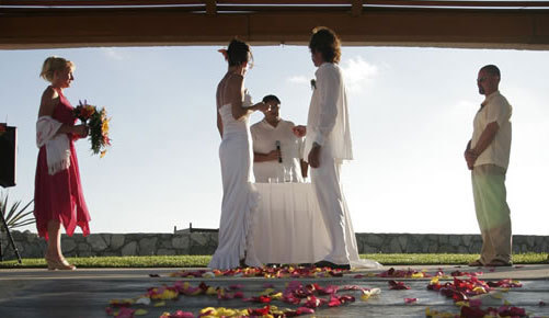 Ceremony, Flowers & Decor, Bridesmaids, Bridesmaids Dresses, Wedding Dresses, Fashion, yellow, pink, dress, Ceremony Flowers, Bridesmaid Bouquets, Flowers, Beachfront, Pueblo bonito oceanfront resorts spas, Oceanview, Flower Wedding Dresses