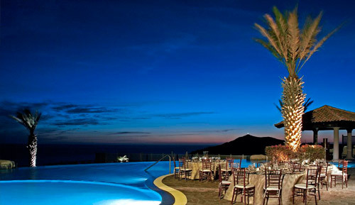 Reception, Flowers & Decor, Destinations, blue, brown, black, gold, Mexico, Cabo, Pueblo bonito oceanfront resorts spas