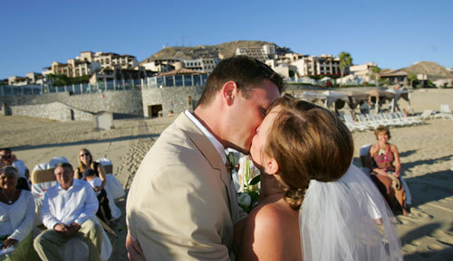 Beauty, Ceremony, Flowers & Decor, Destinations, white, yellow, brown, Mexico, Beach, Ceremony Flowers, Flowers, Beach Wedding Flowers & Decor, Wedding, Hair, Destination, Cabo, Pueblo bonito oceanfront resorts spas