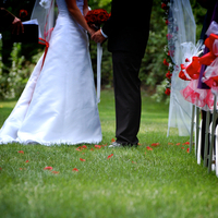 Ceremony, Flowers & Decor, Wedding Dresses, Fashion, white, red, black, dress, Ceremony Flowers, Aisle Decor, Flowers, Aisle, Snapshots by jolene, Flower Wedding Dresses
