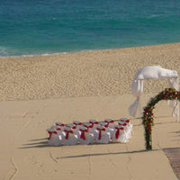 Ceremony, Flowers & Decor, Bridesmaids, Bridesmaids Dresses, Beach Wedding Dresses, Destinations, Fashion, red, green, Mexico, Beach, Ceremony Flowers, Bridesmaid Bouquets, Flowers, Beach Wedding Flowers & Decor, Wedding, Destination, Cabo, Pueblo bonito oceanfront resorts spas, Flower Wedding Dresses