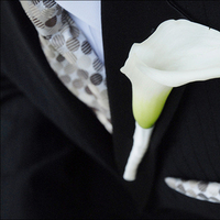 Flowers & Decor, white, Boutonnieres, Groom, Lilly, Pocket, Boutineer, Dots, Polka, Taupe, Hankerchief, Tami mcinnis photography