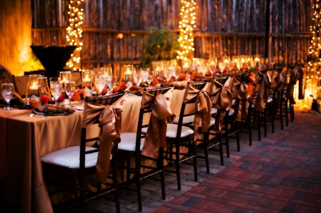 Reception, Flowers & Decor, orange, brown, gold, Wedding, Romantic, Candle, Table, And, Events, Weddings, Runner, Copper, Art, Bronze, Intimate, Lamour, Lit, Soul, Art soul weddings and events, Parakeets