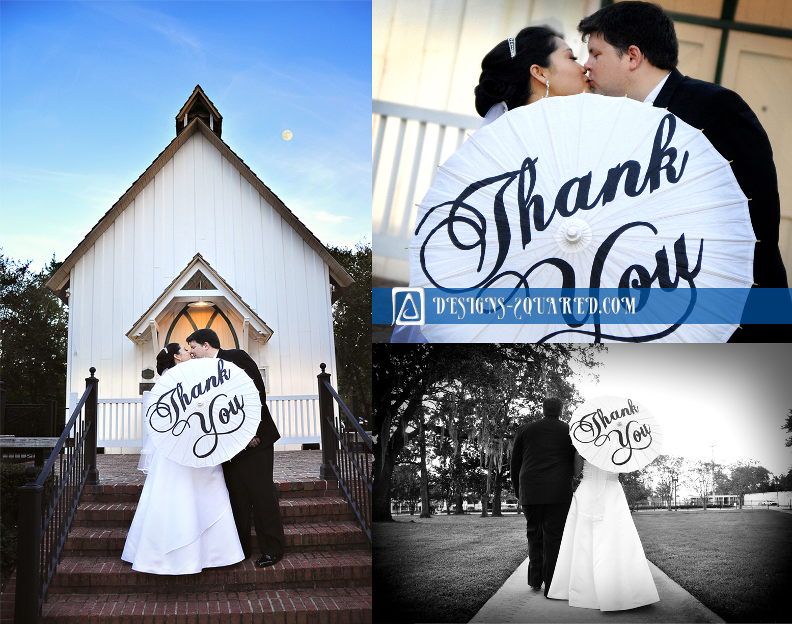 Ceremony, Inspiration, Reception, Flowers & Decor, Stationery, white, blue, black, Invitations, Board, Thank you, Parasol, Monograms, Seating charts, Thank you parasol, Designssquared custom event creations - parasols, maps and more